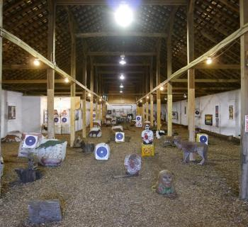 Indoor range at Deer Creek Archery. Photo