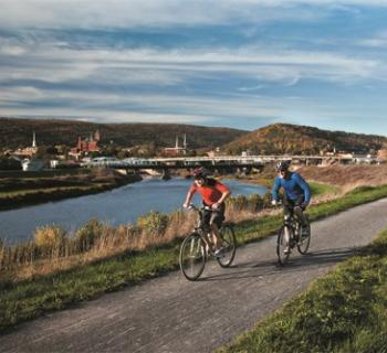 Biking C&O Canal Towpath Photo