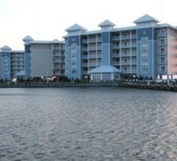 Direct waterfront condo view of Harbor Light Condominium Photo