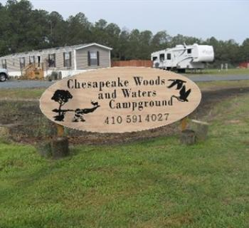 Newly updated Chesapeake Woods and Waters Campground. Photo