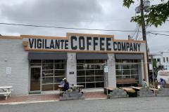 coffee shop in former Model T garage