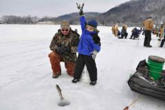 Ice Fishing at Deep Creek Lake
