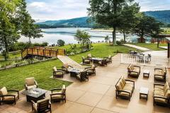 patio overlooking lake