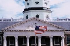 The Maryland State House was built in 1772 and is the oldest state house still in use.
