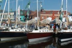 Plan a visit around the Annapolis Spring Sailboat Show--you can even take a free sailboat ride!