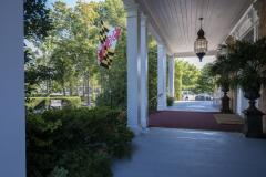 Antrim Porch with Maryland Flag