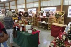 Picture of art display booths at the Artisans Festival in Wye Mills