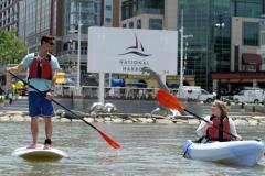 stand-up paddleboard and kayak