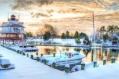 Calvert Marine Museum winter painting