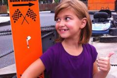 Girl getting ready to ride in GoKart