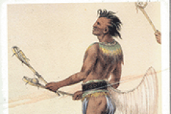 Native American Depiction at the Lacrosse Museum