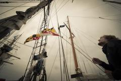 Maryland Flag on Schooner Sultana