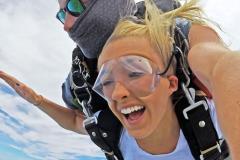 Girl Skydiving in Ocean City