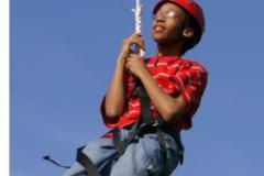 Child on a zipline