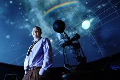 Chris Kopco at the William Brish Planetarium