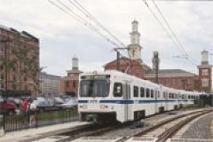 Baltimore Light Rail Train at Camden Yards
