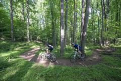 Biking on trails in Patapsco Valley State Park