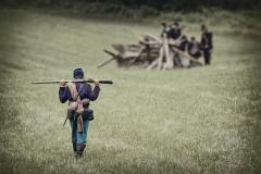 Civil War Union Soldier at a Reenactment