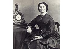 Clara Barton in 1865 by Mathew Brady