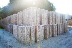 Boxes of Clean Oyster Shells