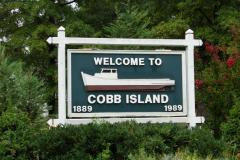 Cobb Island Welcome Sign
