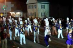 Crisfield High Marching Band performing in the Crisfield Christmas Parade