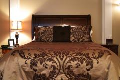 Luxurious bed made up in the Cumberland Inn and Spa