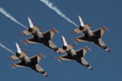 USAF Thunderbirds performing the Diamond
