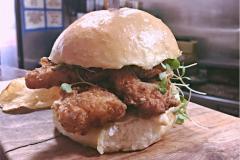 Chicken Strip Burger from Maggie's Farm