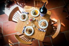 food and wine at Shift