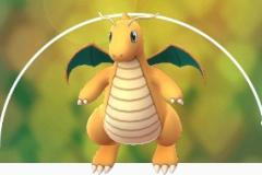 Image of the rare Pokemon, Dragonite