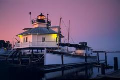 See this 1879 Hooper Strait Chesapeake screw-pile lighthouse at Chesapeake Bay Maritime Museum