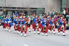 Baltimore City Pipe Band marches along Baltimore's Streets