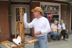 Artist Ray Ewing Paints at Mountain Maryland's Plein Air
