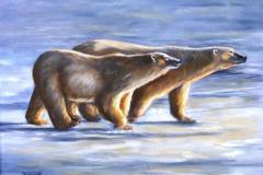 polar bear painting by Donnon