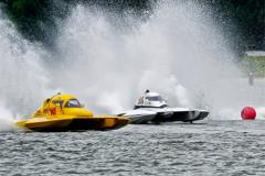 Racing power boats