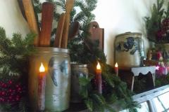 candles and greens