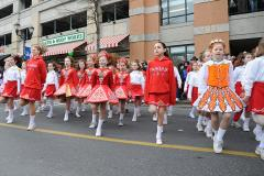 Young marchers show dancing talent at the St. Patrick's Day Parade in Gaithersburg