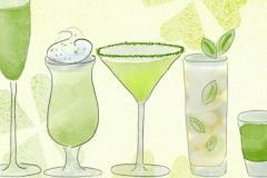 5 green cocktails
