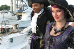 couple dressed like Pirate and Wench
