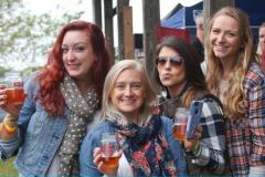 women at beer festival