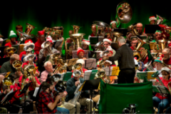 Rotator Tuba Christmas performance