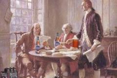 Ben Franklin and Thomas Jefferson in pub