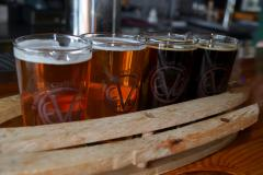 A flight of beer from Evolution Craft Brewing Company