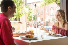A Couple Enjoy Lunch at Firestones in Frederick