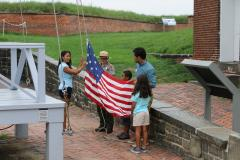 Raising the Flag at Fort McHenry National Monument and Historic Shrine