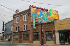 Franklin's exterior and mural