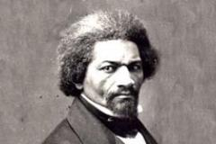 Black and White Painting of Frederick Douglass