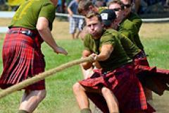 Men in Kilts playing Tug-O-War