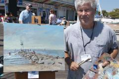 Artist George Kalwa painted the rescue at Ocean City's Plein Air-Photo courtesy of Art League of OC